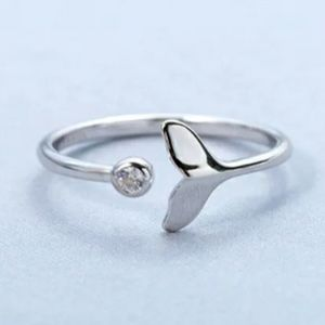 NEW 925 STERLING SILVER PLATED MERMAID RING